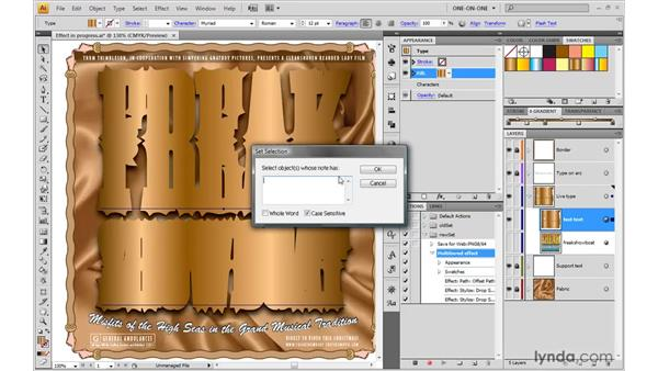Testing that your action works: Illustrator CS4 One-on-One: Mastery