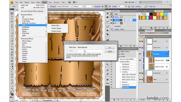 Fixing a broken action: Illustrator CS4 One-on-One: Mastery