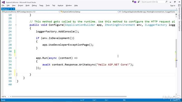 Respond to HTTP requests: Learn ASP.NET Core MVC: The Basics