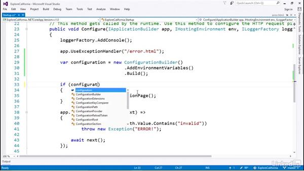 Use custom configuration: Learn ASP.NET Core MVC: The Basics