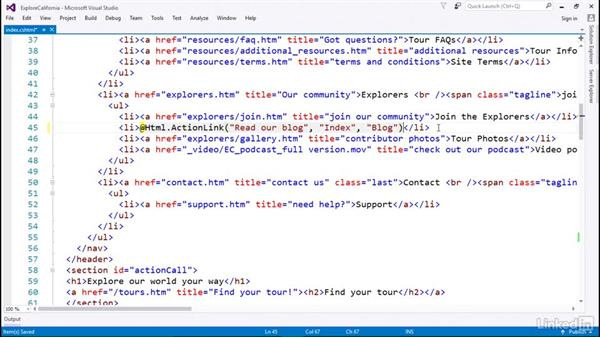 Render dynamic content with Razor: Learn ASP.NET Core MVC: The Basics
