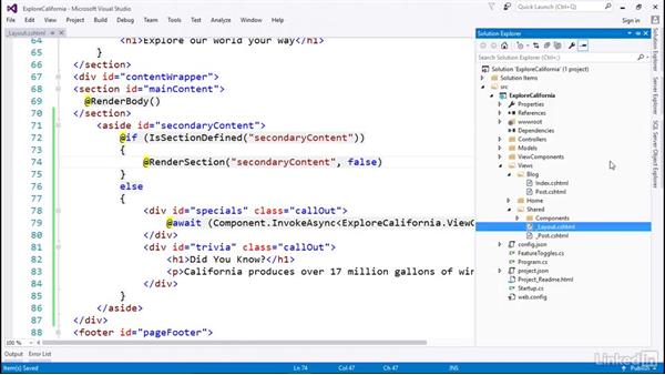 Solution: Learn ASP.NET Core MVC: The Basics