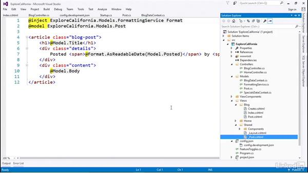 Read from a database using Entity Framework: Learn ASP.NET Core MVC: The Basics