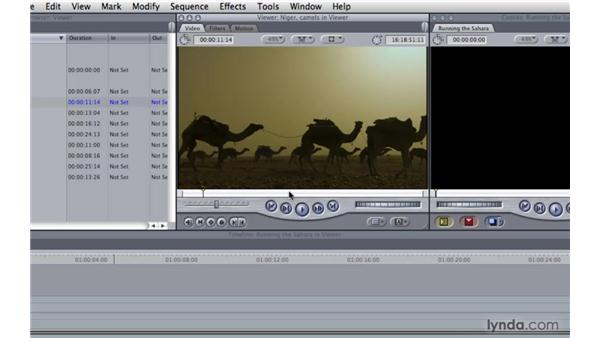 Editing with the Viewer window: Final Cut Pro 7 Essential Training