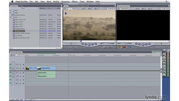 Marking in the timeline: Final Cut Pro 7 Essential Training
