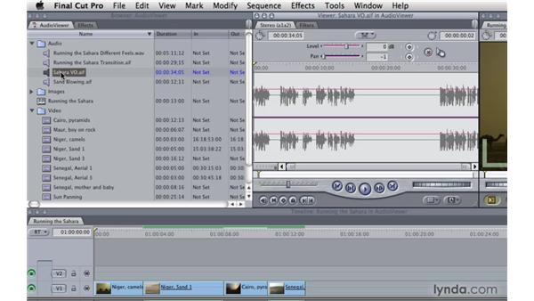 Working with audio in the Viewer window: Final Cut Pro 7 Essential Training