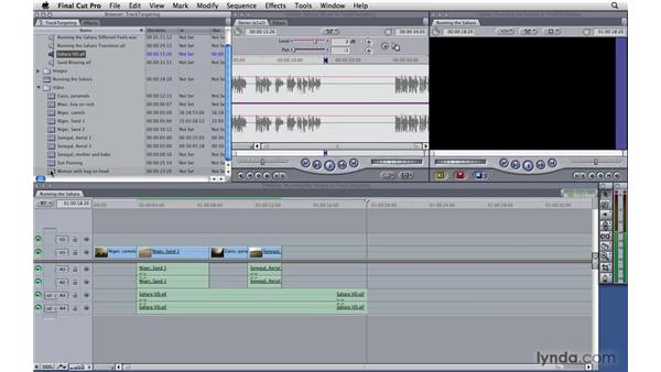 Track targeting: Final Cut Pro 7 Essential Training