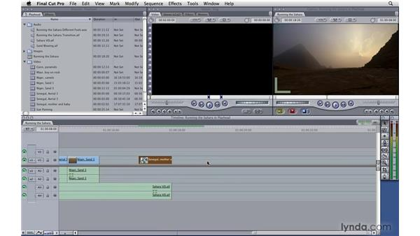 Manipulating the playhead: Final Cut Pro 7 Essential Training