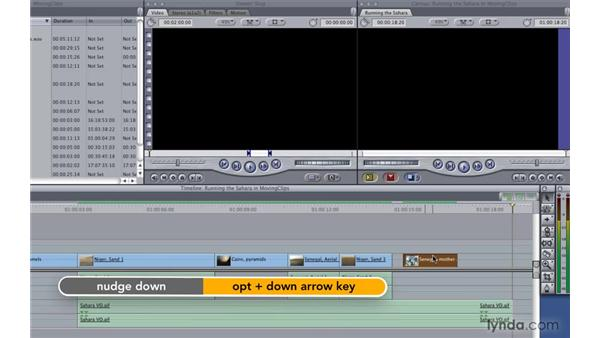 Moving clips in the timeline: Final Cut Pro 7 Essential Training