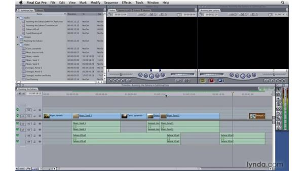 Splitting clips: Final Cut Pro 7 Essential Training