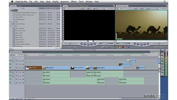 Deleting clips: Final Cut Pro 7 Essential Training