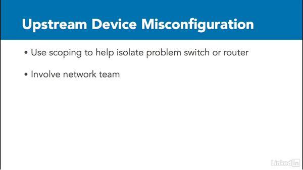 Upstream network issues: VMware vSphere: Network Troubleshooting