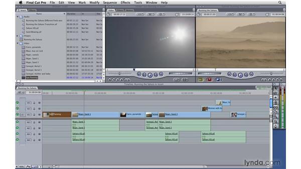 Performing an insert edit: Final Cut Pro 7 Essential Training