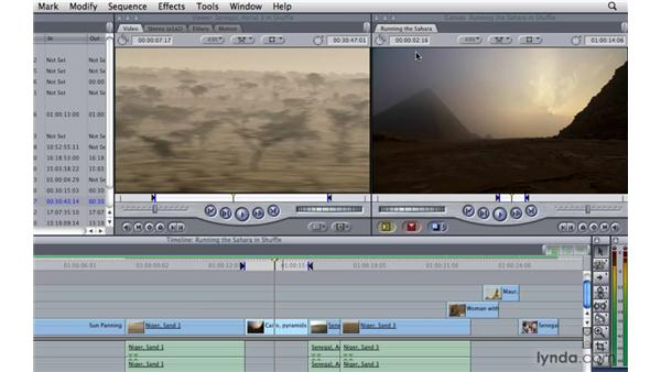 Performing a shuffle edit: Final Cut Pro 7 Essential Training