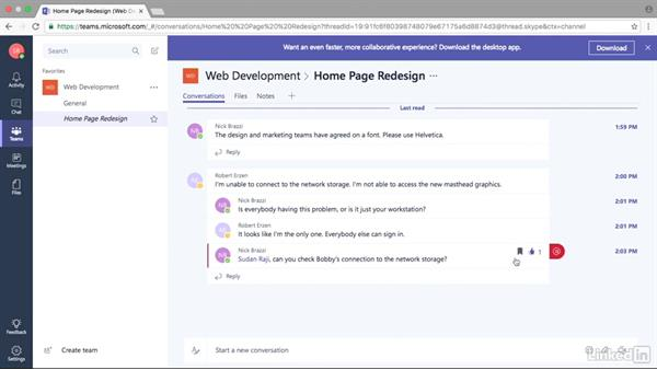 Send messages in conversations and chats: Microsoft Teams First Look