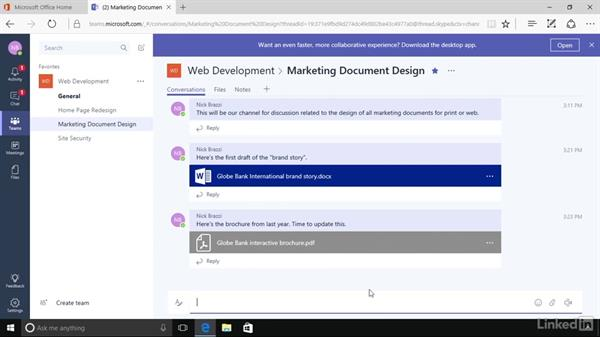 Share files: Microsoft Teams First Look