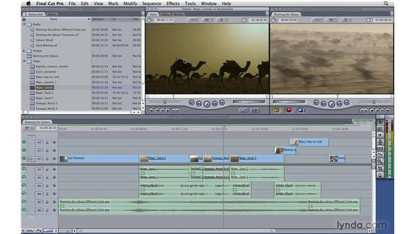 Performing a replace edit: Final Cut Pro 7 Essential Training