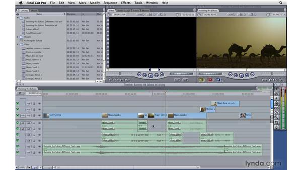 Linking and unlinking: Final Cut Pro 7 Essential Training