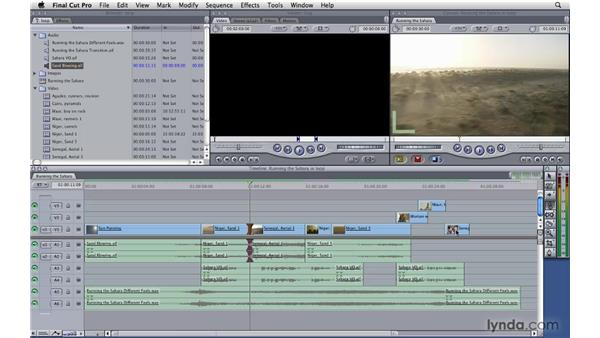 Adjusting edit points on the fly: Final Cut Pro 7 Essential Training