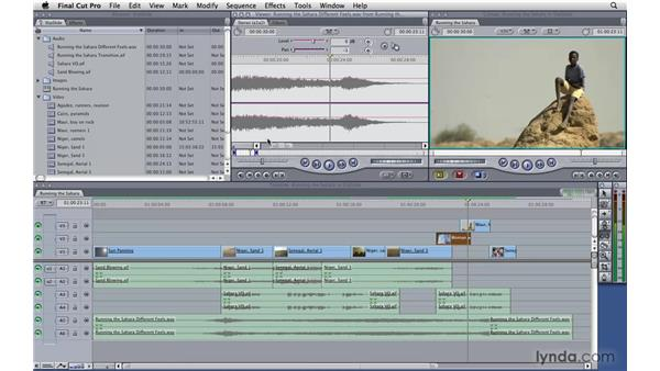 Slip and slide edits: Final Cut Pro 7 Essential Training