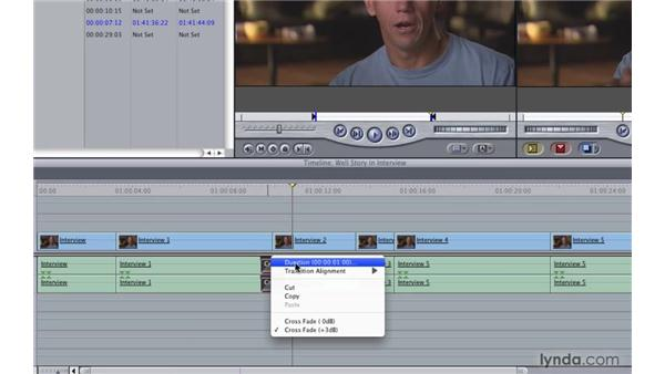 Editing audio and video: Final Cut Pro 7 Essential Training