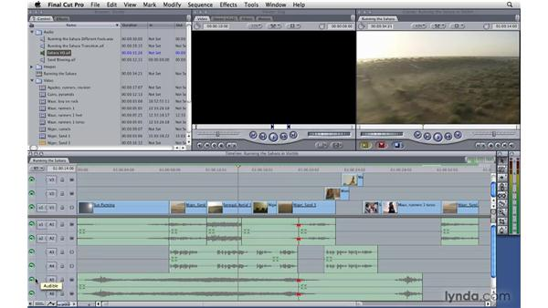 Changing track visibility and locking: Final Cut Pro 7 Essential Training