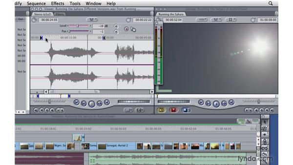 Adjusting audio levels in the viewer: Final Cut Pro 7 Essential Training