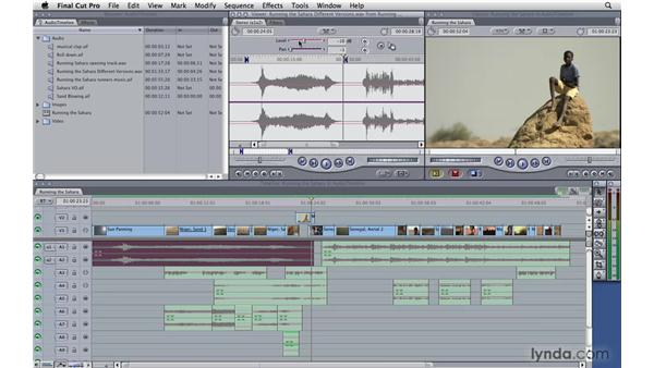 Adjusting audio levels in the timeline: Final Cut Pro 7 Essential Training