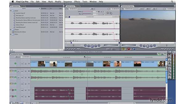 Fading audio: Final Cut Pro 7 Essential Training