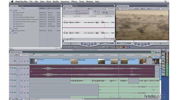 Adjusting the audio mix on the fly: Final Cut Pro 7 Essential Training