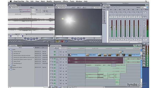 Using the Audio Mixer tool: Final Cut Pro 7 Essential Training