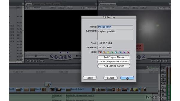 Inserting markers: Final Cut Pro 7 Essential Training