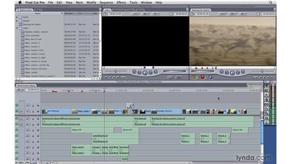 Types of markers: Final Cut Pro 7 Essential Training