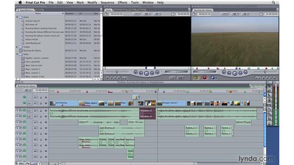 Ripple-deleting markers: Final Cut Pro 7 Essential Training
