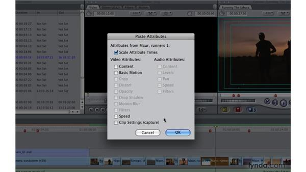 Changing speed at a constant rate: Final Cut Pro 7 Essential Training