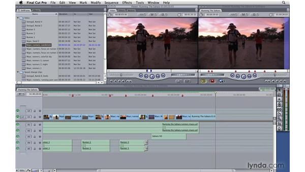 Creating and using freeze frames: Final Cut Pro 7 Essential Training