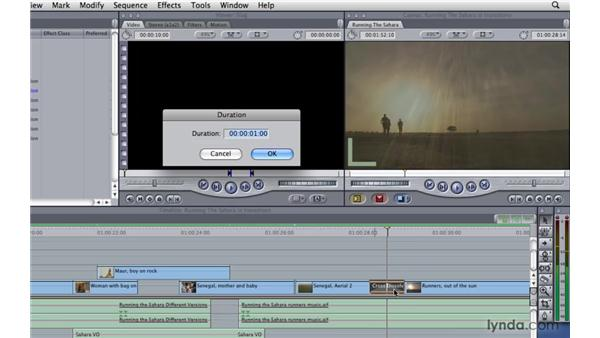 Using transitions: Final Cut Pro 7 Essential Training
