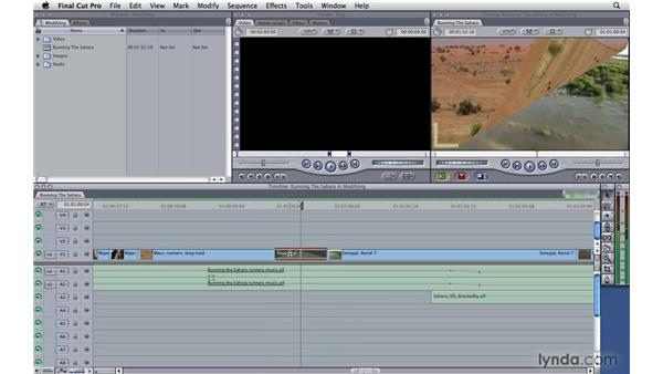 Modifying transitions: Final Cut Pro 7 Essential Training