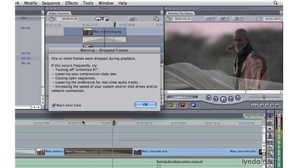 Alpha transitions: Final Cut Pro 7 Essential Training