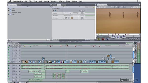 Modifying filters: Final Cut Pro 7 Essential Training