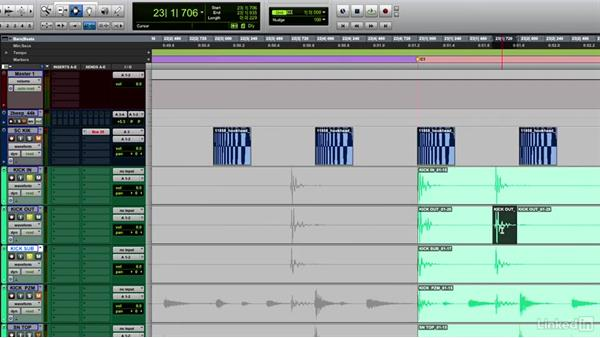 Editing the track and cleaning up the session: Music Production Techniques and Concepts