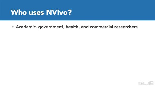 What is NVivo, who uses it, and how?: Learn NVivo: The Basics