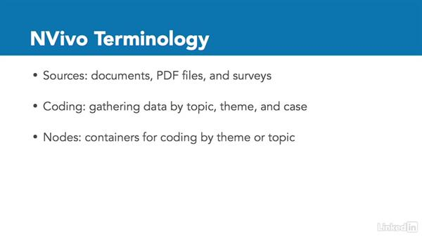 NVivo terminology: Learn NVivo: The Basics