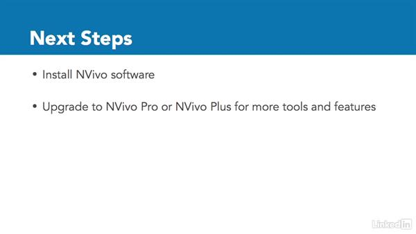Next steps: Learn NVivo: The Basics