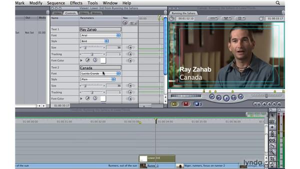 Creating lower thirds: Final Cut Pro 7 Essential Training