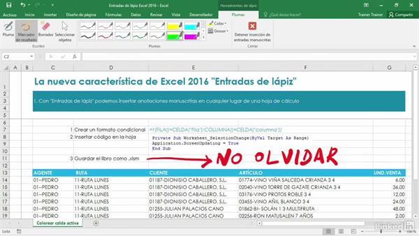 Las Nuevas Entradas De Lápiz De Excel 2016