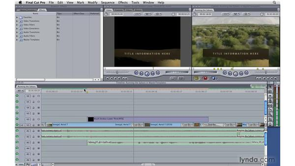 Using master templates: Final Cut Pro 7 Essential Training