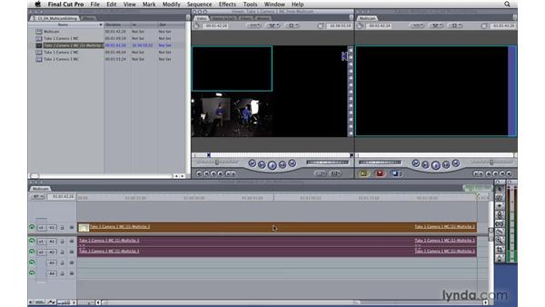 Editing a multicam clip in a timeline: Final Cut Pro 7 Essential Training