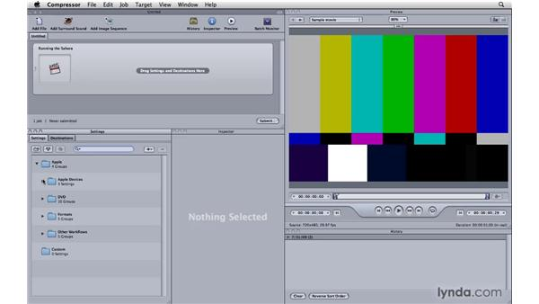 Sending to Compressor: Final Cut Pro 7 Essential Training