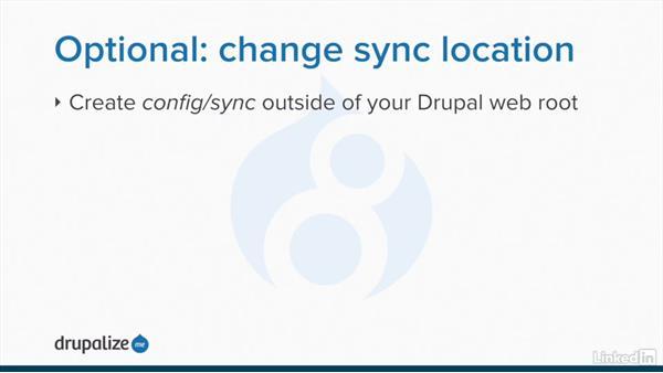 Configuration sync directory setup: Drupal 8 Configuration Management